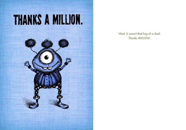 Thanks 800,000 (Box of 8 mini-cards)