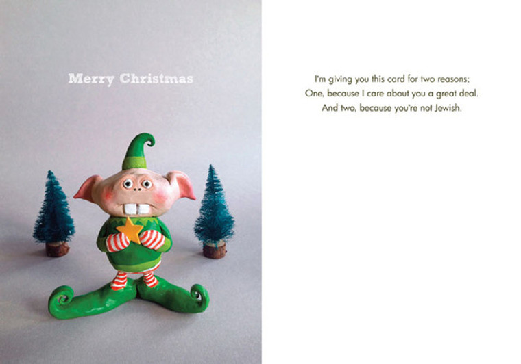 Merry Christmas/Not Jewish (Box of 8 mini-cards)