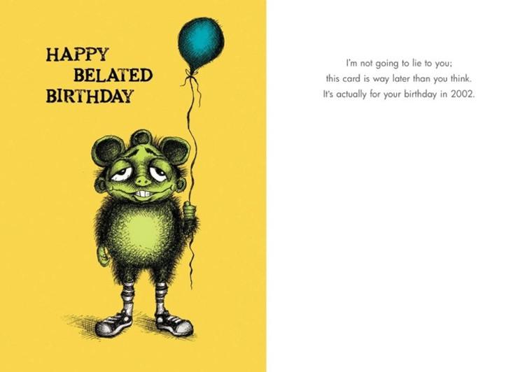Very Belated Birthday