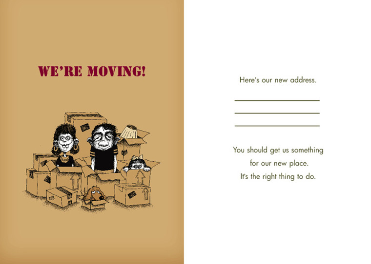 We're Moving (Box of 8 mini-cards)