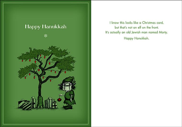 #025a-8  (Box of 8) Hanukkah/Morty