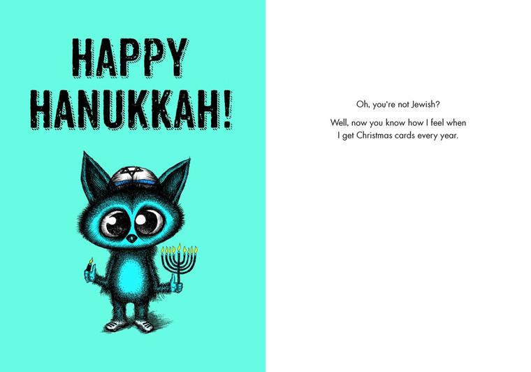 #238a-8  (Box of 8) Happy Hanukkah/Not Jewish?