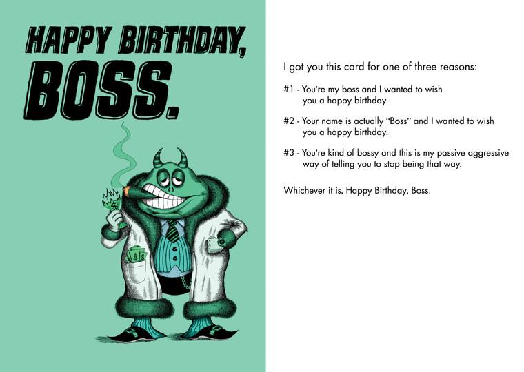 Happy Birthday, Boss