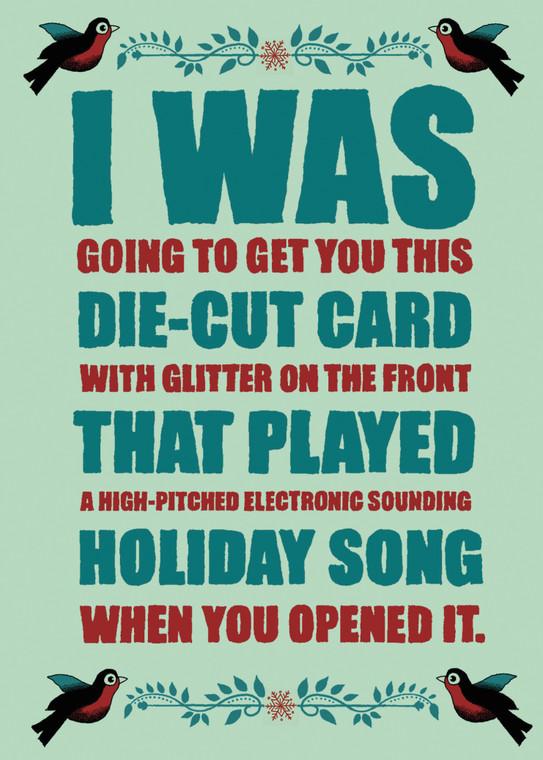 #240a - 8  (Box of 8) Die-Cut Holiday Card