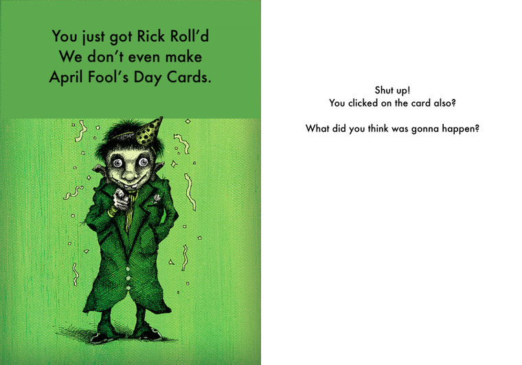 Our #1 Selling April Fool's Day Card