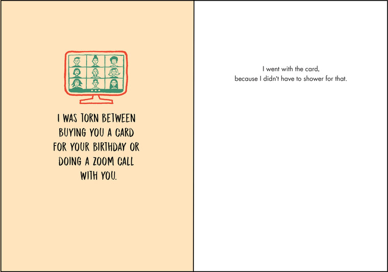 I went with the card, because I didn't have to shower for that.
