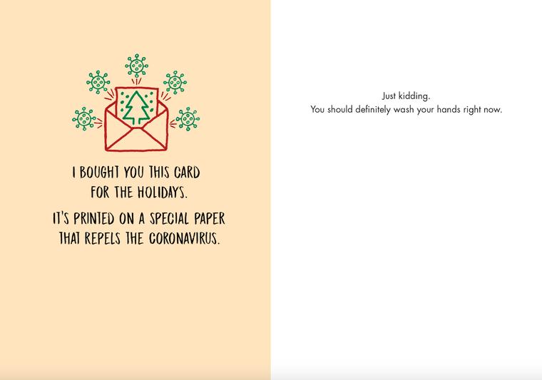 #261a -8 (Box of 8) Coronavirus Holiday Card
