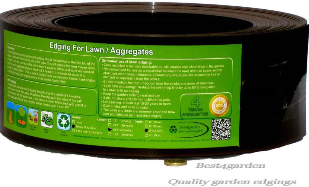 plastic lawn edging roll