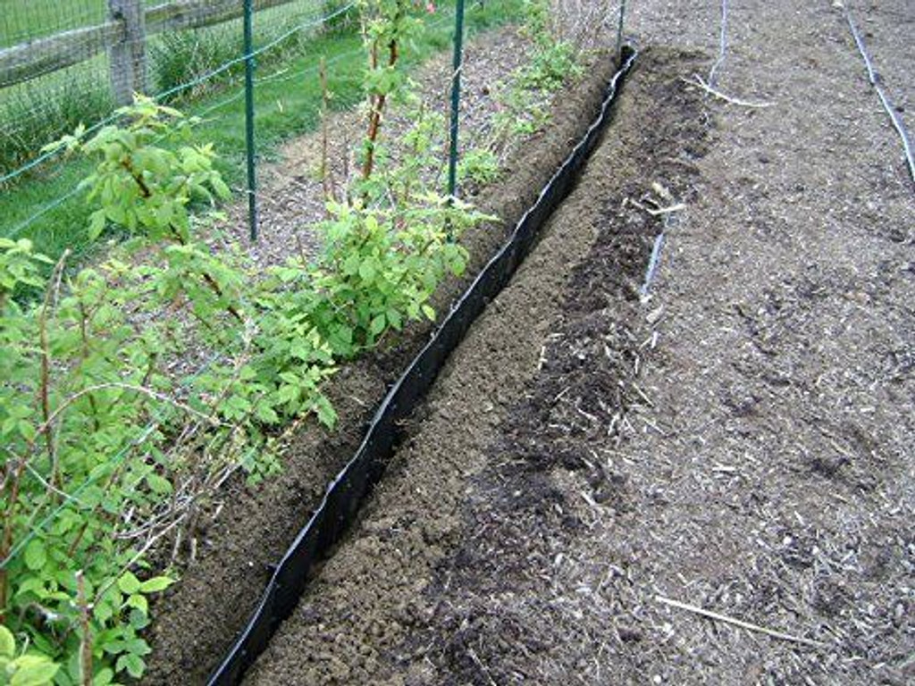 Vertical weed barrier - control spreading weeds by rhizomes