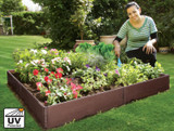 Raised bed for vegetables, herbs and flowers