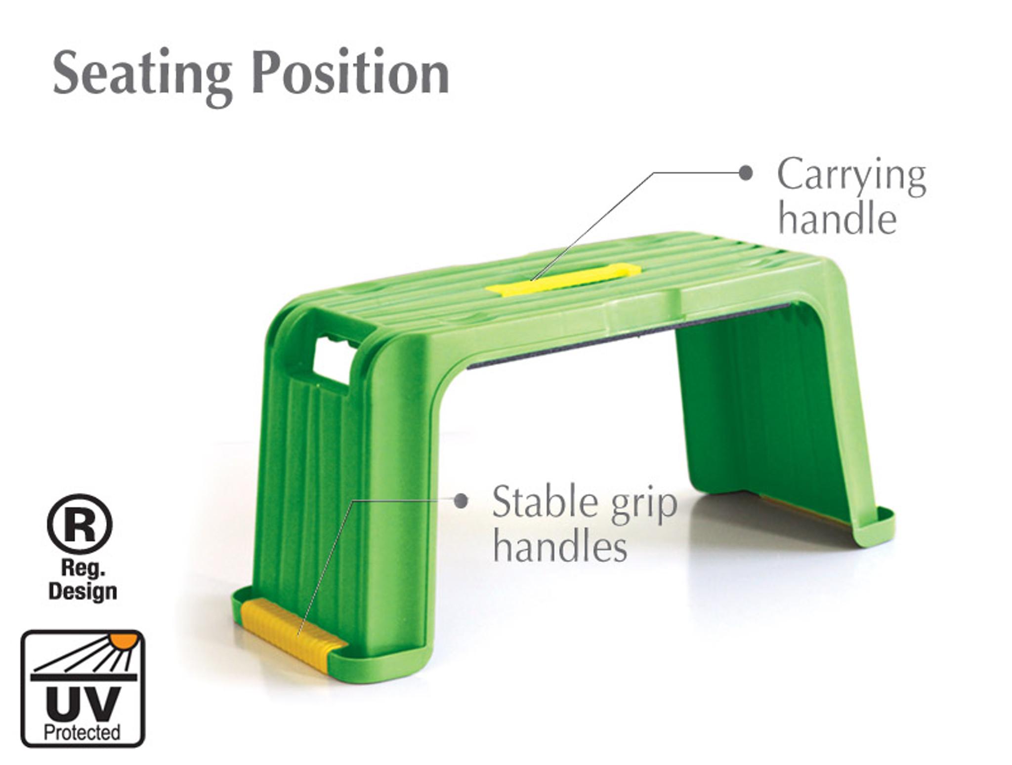 Multi use garden kneeler