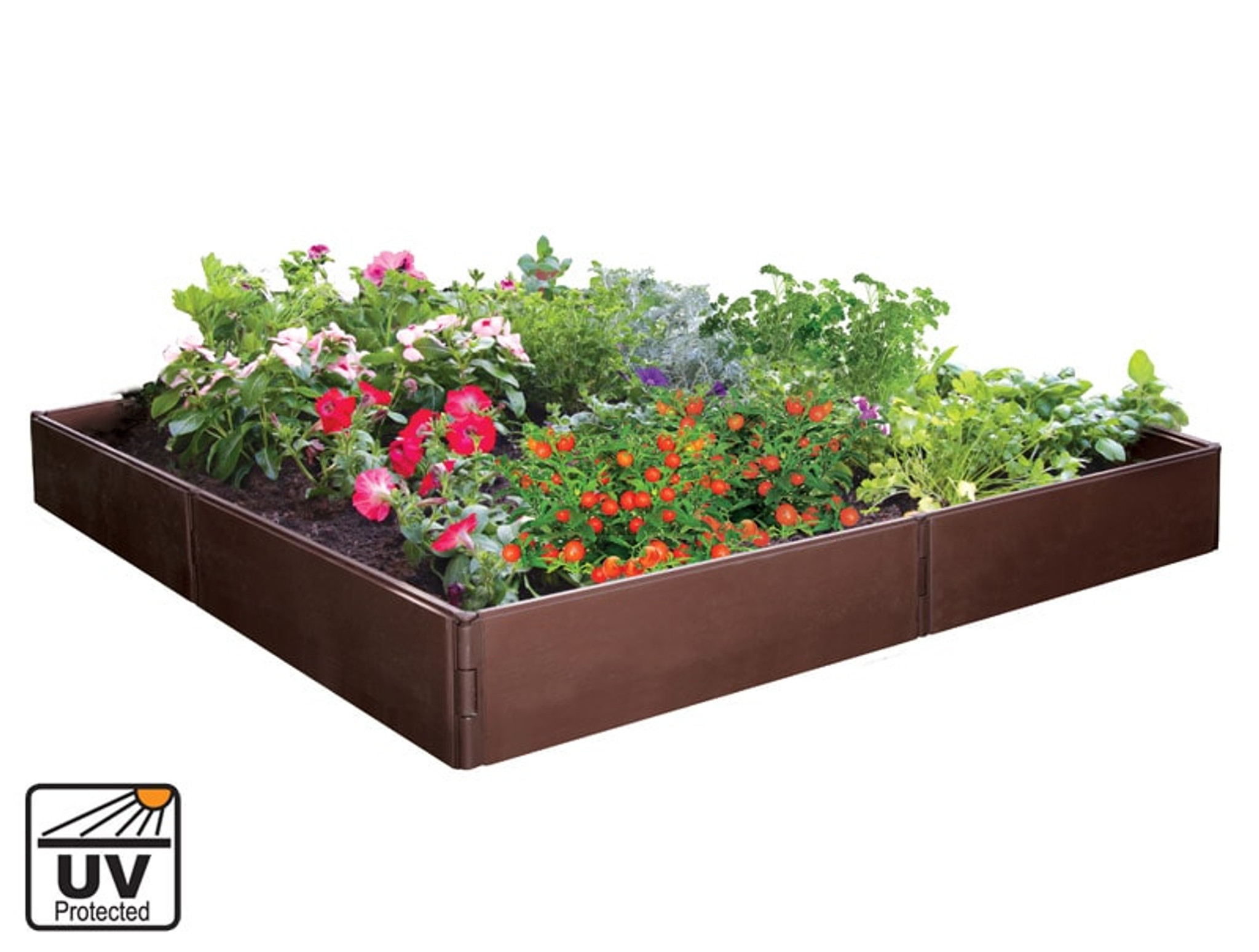 Picture of: Plastic Raised Garden Bed For Vegetables Herbs And Flowers