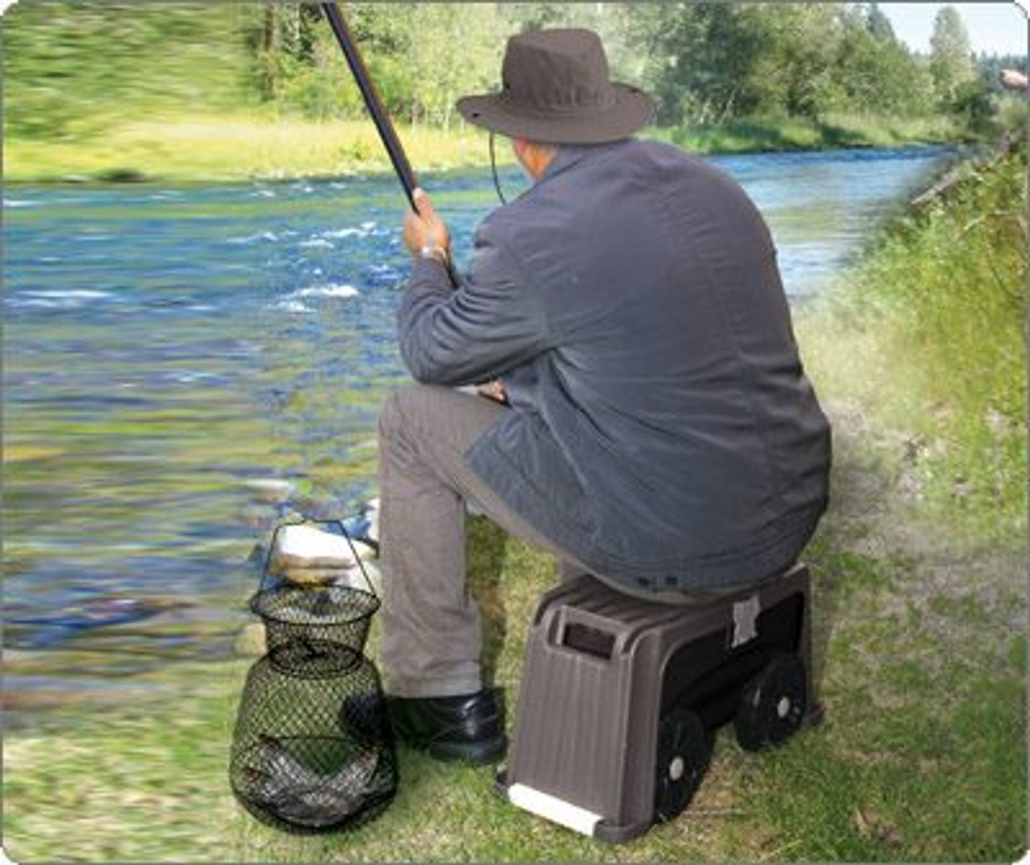 Lightweight and moveable fishing storage chair