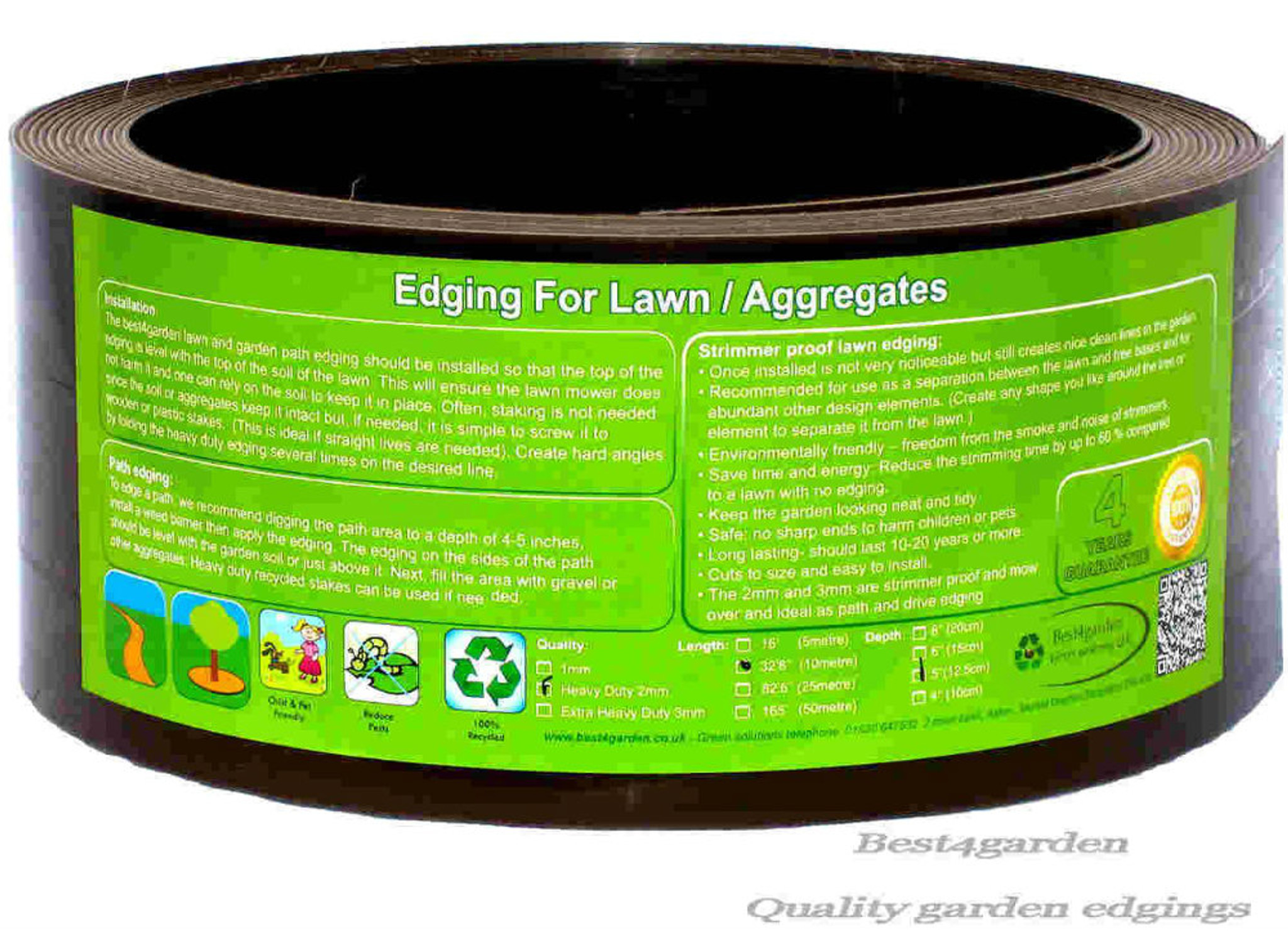 Brown Lawn edging