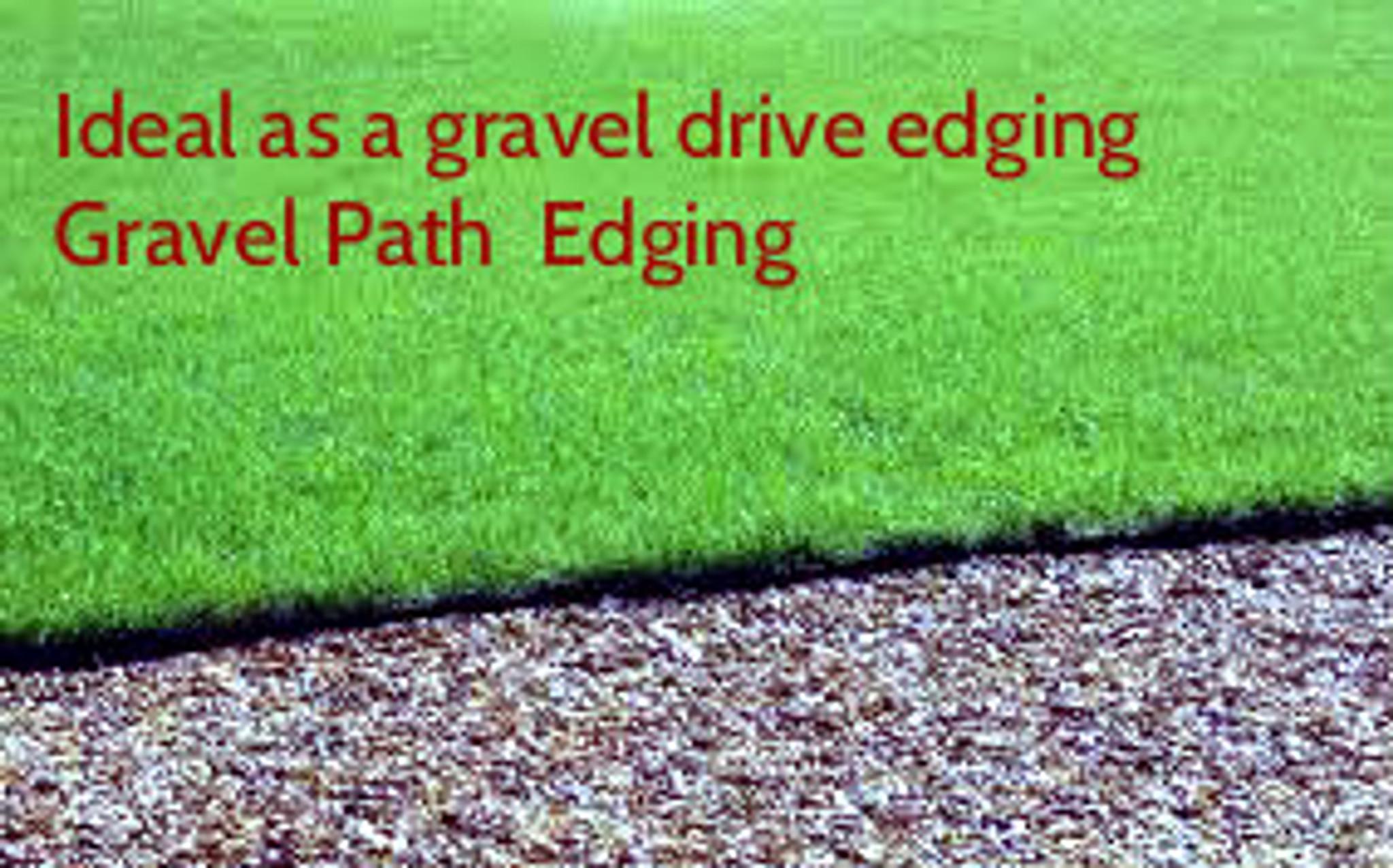 Lawn edging in garden grass