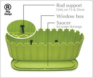 Planter with innovative saucer