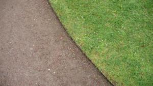 Deep plastic lawn edging