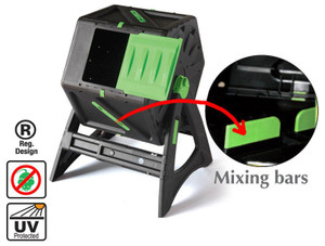 Mixing bar composter