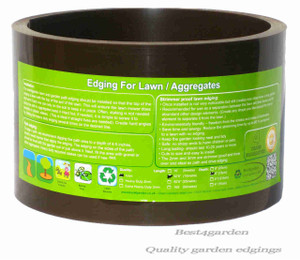 Plastic lawn edging roll