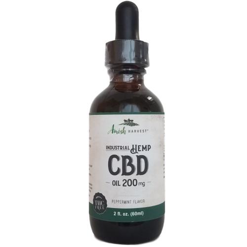 Yoder Naturals Amish Harvest CBD Oil 200 mg peppermint flavor