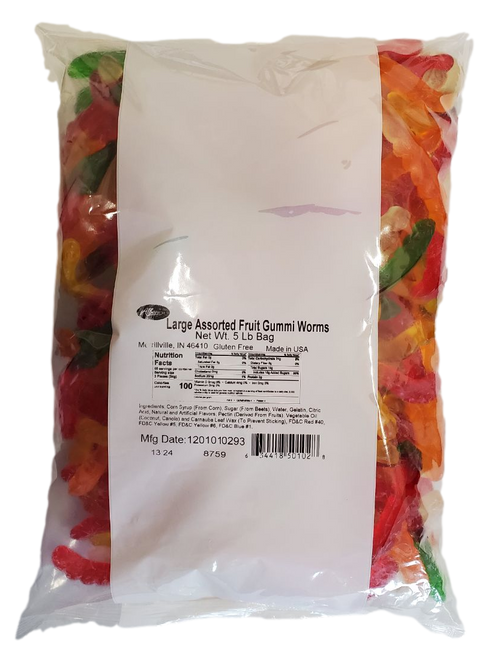 Albanese Large Assorted Fruit Gummi Worms