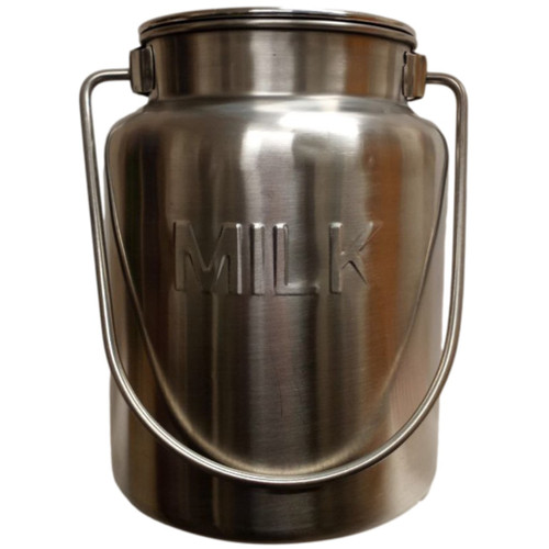 Lindy's Stainless Steel Metal 1 Gallon Milk Can front