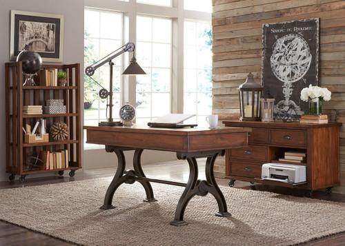 Arlington House Writing Desk: Cobblestone Brown