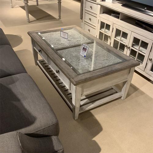 Heartland Rectangular Ceiling Tile Cocktail Table