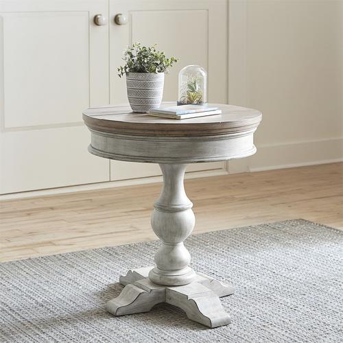 Heartland Round Pedestal Side Table