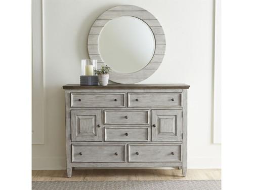 Heartland Dresser with Round Mirror