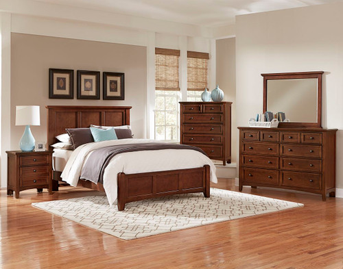 Bonanza Full Mansion Bed in Cherry