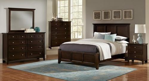 Bonanza Queen Mansion Bed in Merlot