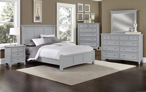 Bonanza Queen Mansion Bed in Gray