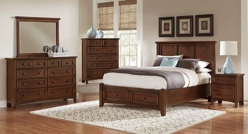 Bonanza Full Mansion platform/storage Bed in Cherry