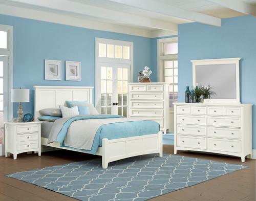 Bonanza Twin Mansion Bed in White