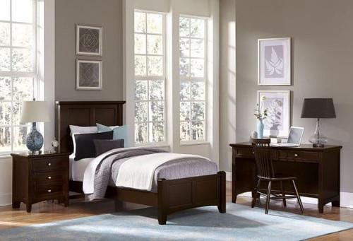 Bonanza Twin Mansion Bed in Merlot
