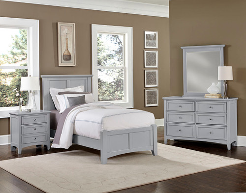 Bonanza Twin Mansion Bed in Gray