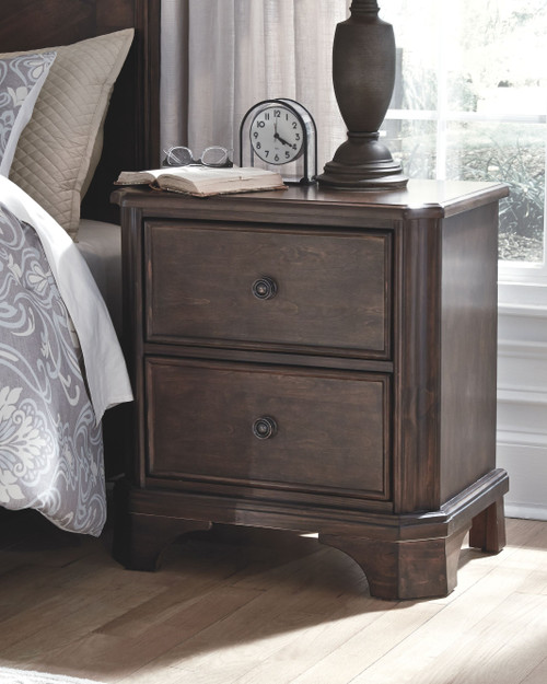 Adinton Brown Two Drawer Night Stand