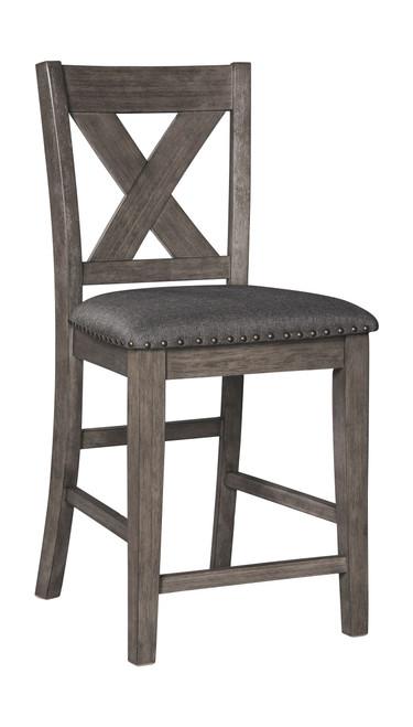 Caitbrook Gray Upholstered Barstool (1/CN)