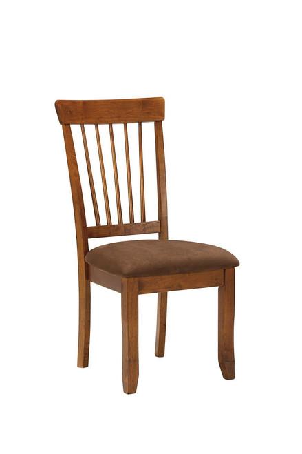 Berringer Rustic Brown Dining Upholstered Side Chair (1/CN)