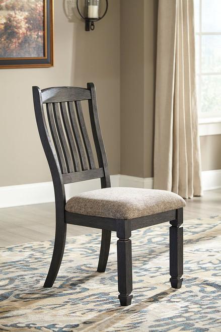 Tyler Creek Black/Grayish Brown Dining Upholstered Side Chair (Set of 2)