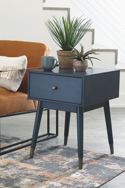 Paulrich Antique Blue Accent Table