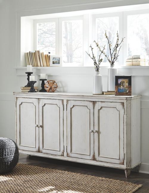 Mirimyn Antique White Accent Cabinet