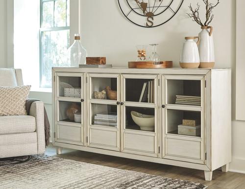 Deanford Antique White Accent Cabinet