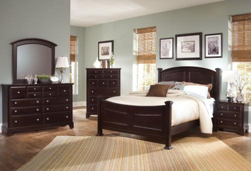 Hamilton/Franklin 4 Piece Bedroom Collection: Merlot