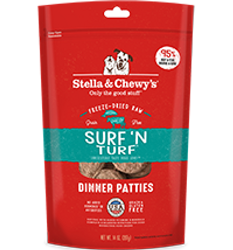 Stella & Chewy's Dog Freeze-Dried Dinner Patties Surf 'N Turf