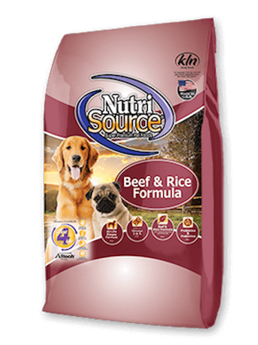 NutriSource Dog Beef & Rice