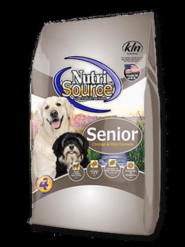 NutriSource Dog Senior Chicken & Rice