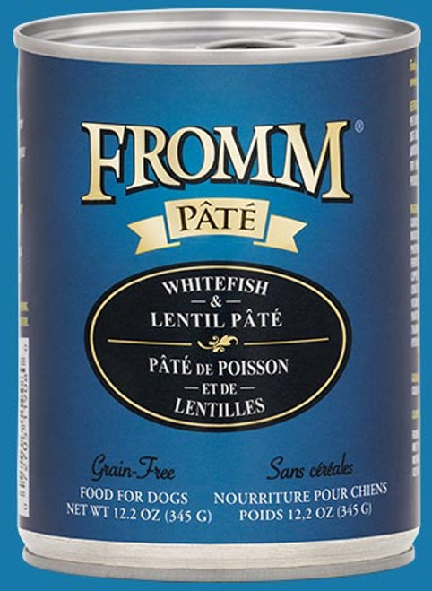 Fromm Grain Free Whitefish & Lentil Pate 12.2oz