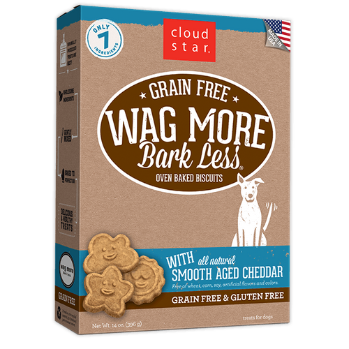 Wag More, Bark Less GF Baked Smooth-Aged Cheddar 14oz